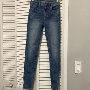 American eagle super stretch jeans size 00